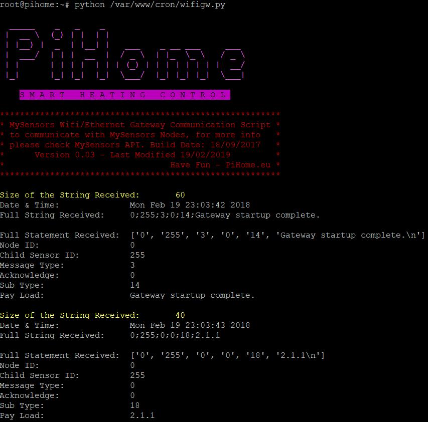 MySensors WiFi Gateway Startup Python Image