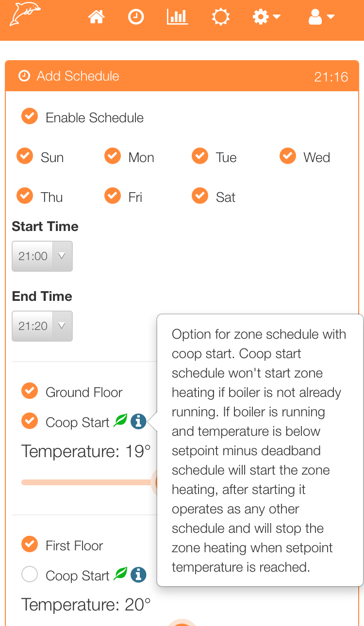 Zone Schedule with Conditional Coop Start