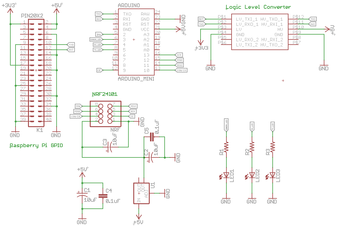 MySensors Serial gateway Raspberry pi Header Schematic.PNG