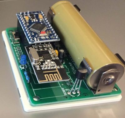 18650 Battery Powered DS18B20 Temperature Sensor