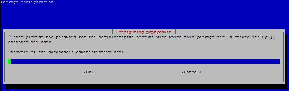 PhPmyAdmin Installation - Configuring