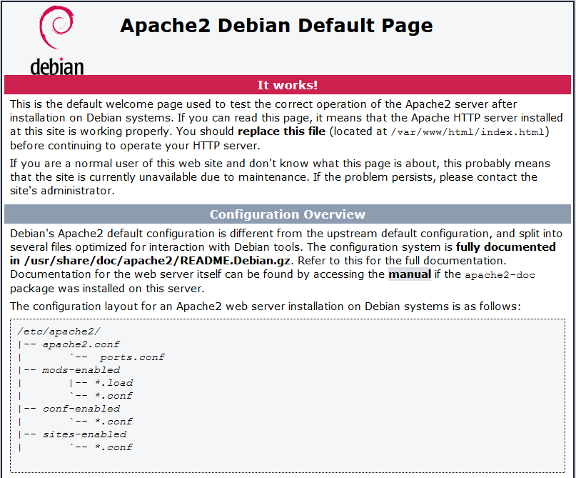 Apache 2 Installation Testing on Raspberry Pi