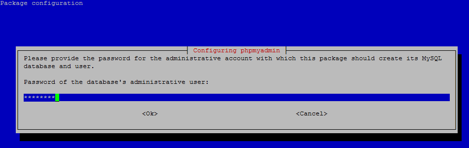 phpMyAdmin Password of the Database's administrative user