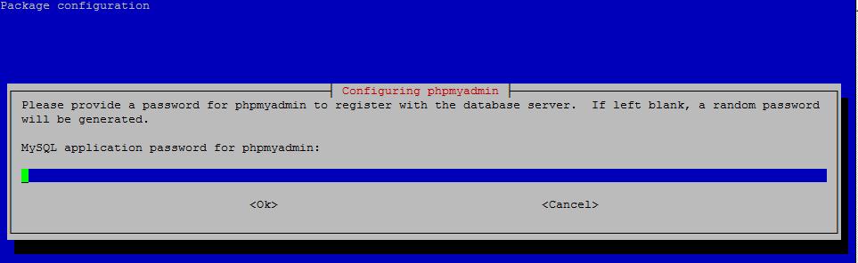 Configuring phpMyAdmin: MySQL/MariaDB application password for the phpmyadmin
