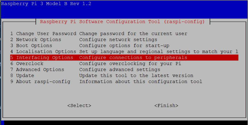 PiHome Enable i2c interface on Raspberry pi Config Menu