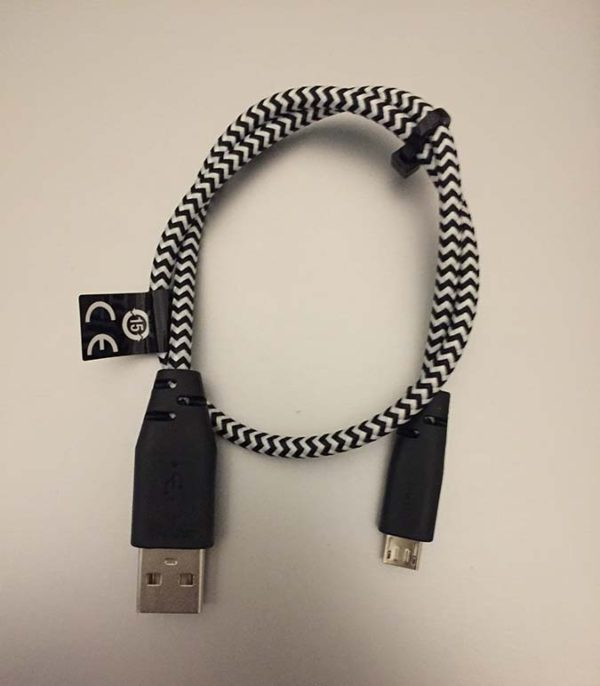 USB cable - USB A to Micro-B 0.4m