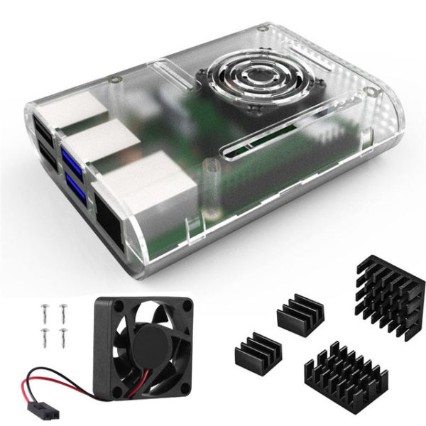 Raspberry Pi 4 Case with Cooling Fan and Heatsink