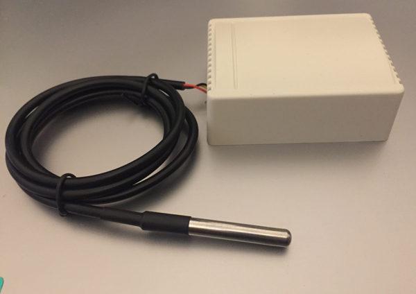 Wireless DS18B20 Hot Water Temperature Sensor (Battery Powered)