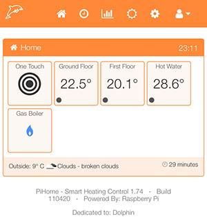 PiHome Version 1.74 Build 110420