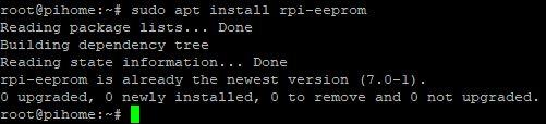 Raspberry Pi 4 eeprom version