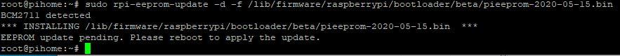 Raspberry pi 4 update eeprom